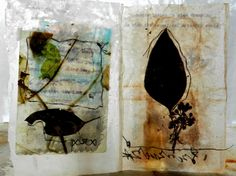 Leaves and light - Elizabeth Bunsen - beeswax, tea bag paper, eucalyptus