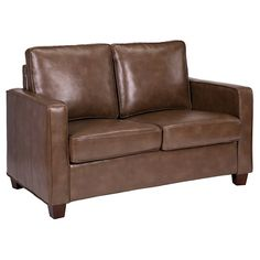 Square Arm Bonded Leather Loveseat - Threshold™ : Target