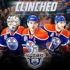 Edmonton Oilers are in the playoffs! Photos from unless otherwise stated. Connor Mcdavid, Hockey Logos, Stanley Cup Playoffs, Edmonton Oilers, National Hockey League, Hockey Players, Ice Hockey, My Boys, Hot Guys