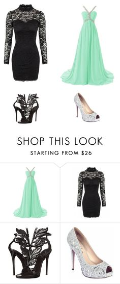 """""""Night Club or Royale Ball?"""" by jkeyondrea ❤ liked on Polyvore featuring Giuseppe Zanotti and Lauren Lorraine"""