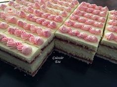 Cake Bars, Köstliche Desserts, Delicious Desserts, Hungarian Recipes, Sweet And Salty, Waffles, Biscuits, Raspberry, Cheesecake