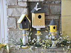 Here Comes Peter Cottontail {Spring Mantel} - Fox Hollow Cottage