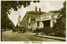 Morssingel met garagebedrijf 'Het Motorhuis' (ca. 1925).