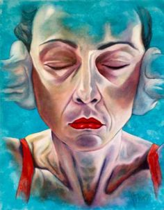 "Saatchi Art Artist Monica Spicciani; Painting, ""Non sento - I don't hear"" #art"