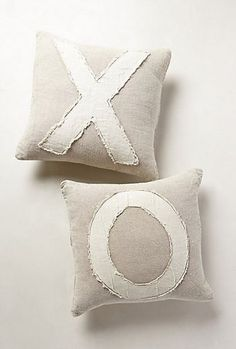 "Anthropologie Inspired XOXO Pillows  |  View From The Fridge. 20"" sq."