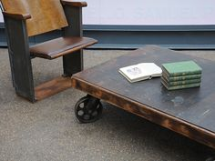 dimensions: width: 123cm; height: 35cm; depth: 88cm. http://www.elemental.uk.com/antique/industrial_coffee_table__1280/product