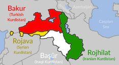 The modern division of Kurdistan