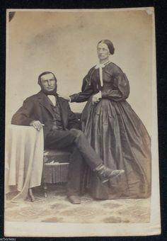 Vintage Civil War Era CDV Photo of Married Couple Rev Stamp N J | eBay