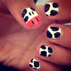 Cow nails, sooo cute!
