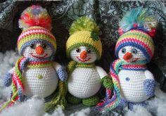 НАША СТРАНА МАСТЕРОВ: Вязаный снеговик крючком: идеи и мастер класс
