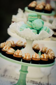 vintage cake stands + sweet treats