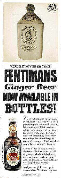 Fentimans Bottles Ginger Ad