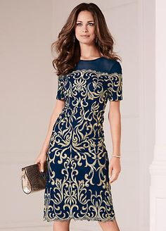 ab70ed7d6f07 Kaleidoscope Embroidered Bardot Detail Dress Navy Size UK20 rrp 119 DH087  PP 12  fashion