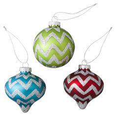 Glitter Chevron Ornament