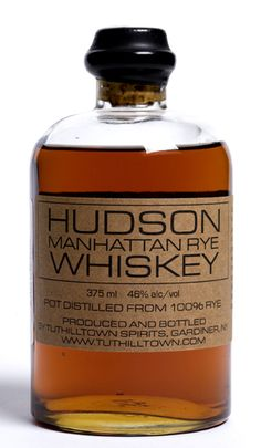 Hudson Whiskey. I love the resurgence of rye whiskey