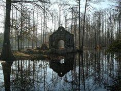 "speciesbarocus: "" nordicsublime: ""Chapel ruins at Cypress Gardens "" > Photo by navygolfer (2004). """