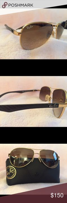 ray ban glasses soft case  ray ban unisex aviator sunglasses ray ban carbon fiber gradient collection. beautiful,