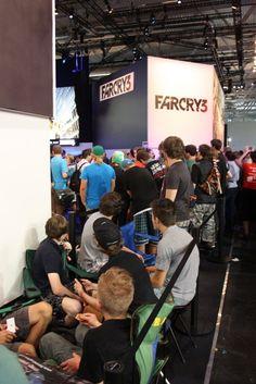Warteschlange FarCry 3 Booth