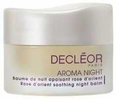 Decleor Aroma Night - Rose D'Orient Soothing Night Balm 30ml - Revives Sensitive Skin by Decleor. $72.80. Decongests And Prevents Inflammation.. Suitable For All Skin Types.. 100% Pure Essential Oils Of Neroli, Basil Camomile And Beeswax Extracts.. Purifies And Balances Skin.. Brightens A Dull Complexion. This 100% natural, preservative free balm, with its lush, melt-in texture, offers all the benefits of a made-to-measure aromatic night-care treatment for all skin...