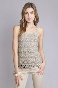 Niva Crochet Lace Cami - so cute!!!