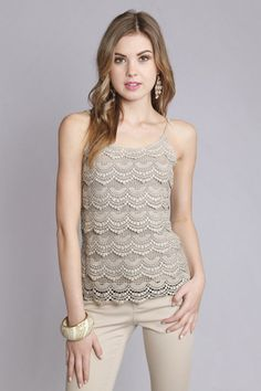 Niva Crochet Lace Cami on Emma Stine Limited - 20s inspired