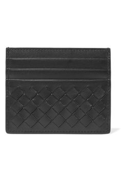 BOTTEGA VENETA Intrecciato leather cardholder. #bottegaveneta #wallets