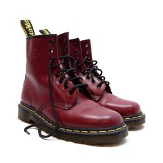 NEW Dr. Martens Air Wair Oxblood Leather Boots US Mens Sz 7 Womens 9 Shoe 8 Eye #DrMartens #AnkleBoots