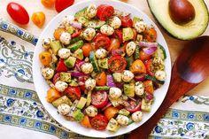 Avocado Salad with Tomatoes, Mozzarella, Basil Pesto-5