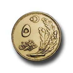 Coins 1924 1939 coins in emission - My CMS Turkish Lira, Legal Tender, Gold And Silver Coins, Old Money, Old Coins, Islamic Art, Old And New, Diy And Crafts, Nostalgia