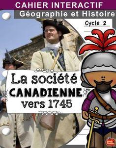 Voici le cahier interactif sur la socit canadienne et les 13 colonies anglo-amricaines.Kit complet de 8 cahiers interactifsKIT DE 8…