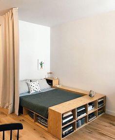 """024e299a245f ArquiCreativa☇ on Instagram  """"Que tal el diseño de esta cama   Aprovechando  el almacenamiento al 100% 👌😉 📸Via   ideiasdiferentes ."""