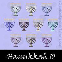 Hanukkah Digital Scrapbooking. Free embellishments downloads.