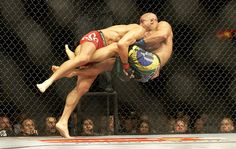 Awesome double leg courtesy of GSP