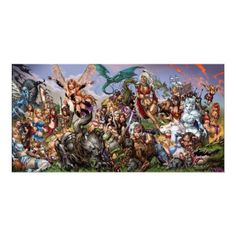 Grimm Fairy Tales #50 B Many Fairy Tale Characters Posters