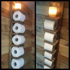réserve de rouleau de papier toilette/étagère murale