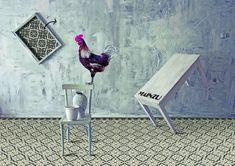 Florentine-Mainzu-2, Salotto, stile Stile patchwork, Effetto piastrella effetto cementine, Ceramica, rivestimento e pavimento, Superficie opaca, bordo non rettificato