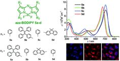 Tetraphenylethylene- and fluorene-functionalized near-infrared aza-BODIPY dyes for living cell imaging DOI: 10.1039/C7RA10820F