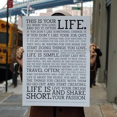 this is your LIFE. do what u love and do it often. If u don't like something change it. If u don't like ur job, quit.