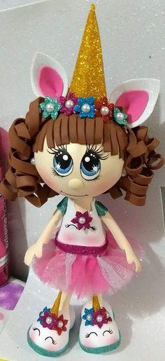 Fofuchas Unicorn Birthday, Unicorn Party, Birthday Wishes, Biscuit, Ideas Para Fiestas, Up Halloween, Foam Crafts, My Little Pony, Princess Peach