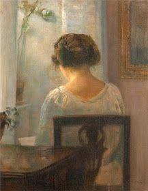 "huariqueje: "" Woman Reading in an Interior - Carl Vilhelm Holsoe Danish, "" Aarhus, Reading Art, Woman Reading, Reading Books, Illustration, Paintings I Love, Female Art, Art History, Book Worms"