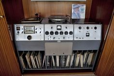 The original sound and recording system installed by Valentino Electronics of Hollywood in Frank Sinatra's Palm Desert home. Frank used this very system to cut records at the house. Thank you Curbed LA for the post.