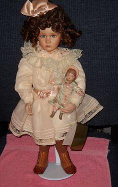 """Sophie And Her Bru porcelain doll 18"""" by Pamela Phillips"""