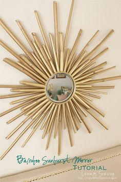 How To: Bamboo Sunburst Mirror | from Living Savvy