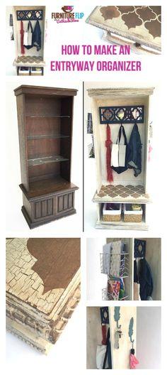 Furniture Flip: How to Make an Entryway Organizer