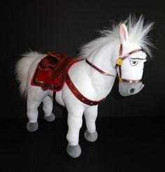 "Disney Store 15"" MAXIMUS Plush White Horse RAPUNZEL Tangled Princess #Disney"