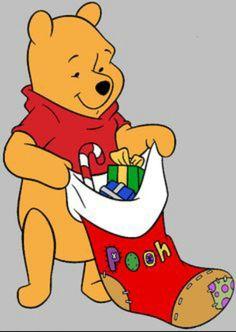 Christmas - Disney - Winnie-The-Pooh Winnie The Pooh Christmas, Cute Winnie The Pooh, Winne The Pooh, Winnie The Pooh Quotes, Disney Christmas, Christmas Yard, Christmas Stocking, Christmas 2019, Christmas Decor
