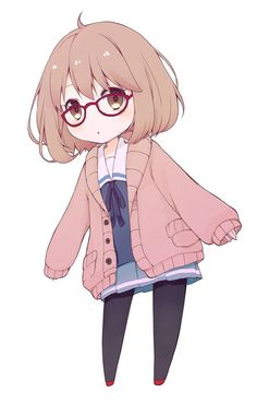 Really cute chibi girl with glasses...kind of reminds me of Fem!Canada :)