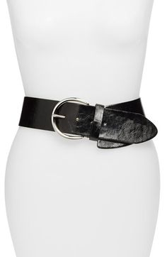 Steven by Steve Madden Asymmetrical Stretch Belt at Nordstrom.com. The asymmetric silhouette of this wide, faux-leather belt puts a laid-back spin on a classic waist-defining style.