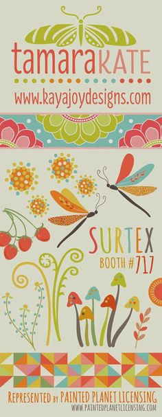 print & pattern: SURTEX 2014 - flyers part two Dotted flower