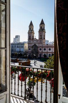 CÁDIZ. IGLESIA DE SAN ANTONIO | Tomada desde la Casa de Aramburu